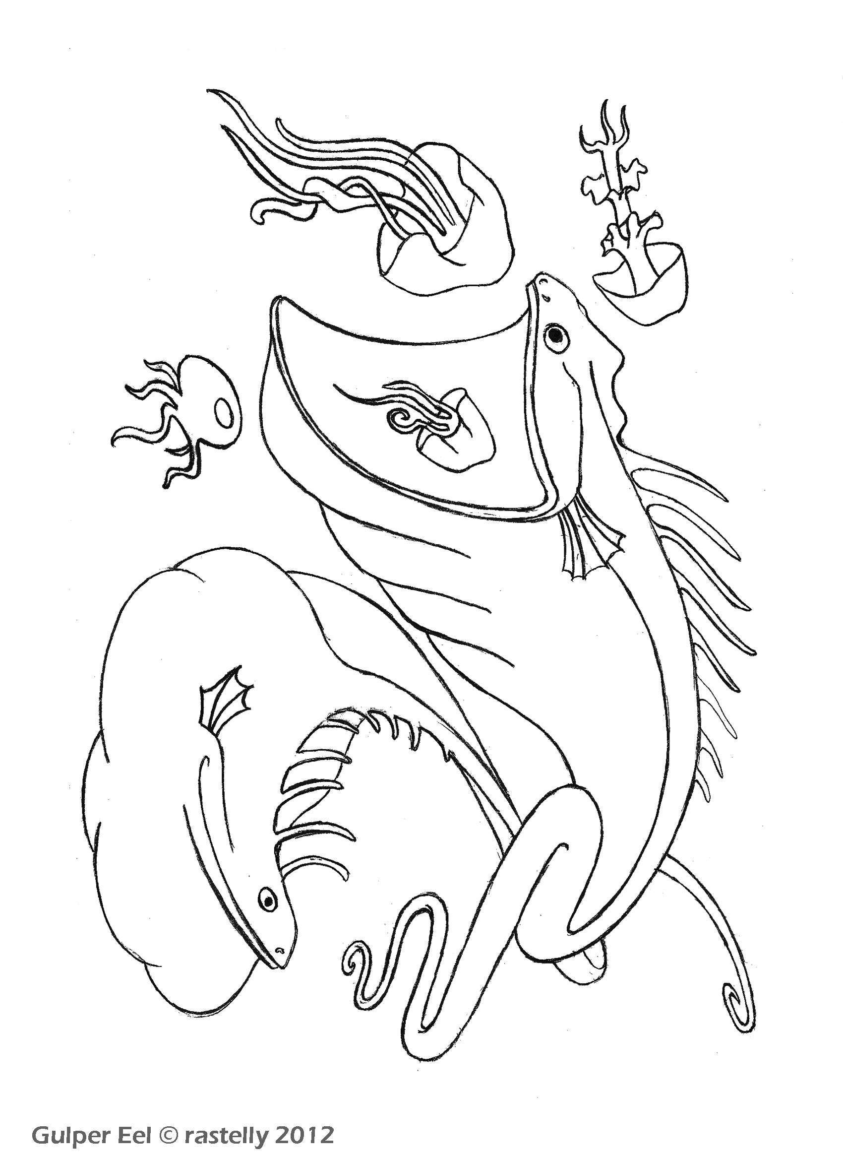 giant squid coloring pages - photo#12